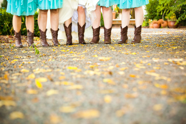 How To Wear Cowboy Boots With A Wedding Dress Mckinney S